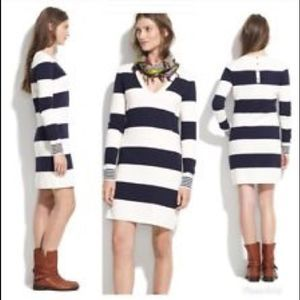 Madewell Wallace Striped Sweater Dress